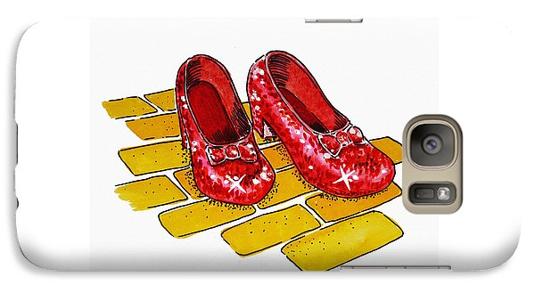 Wizard Galaxy S7 Case - Ruby Slippers The Wizard Of Oz  by Irina Sztukowski