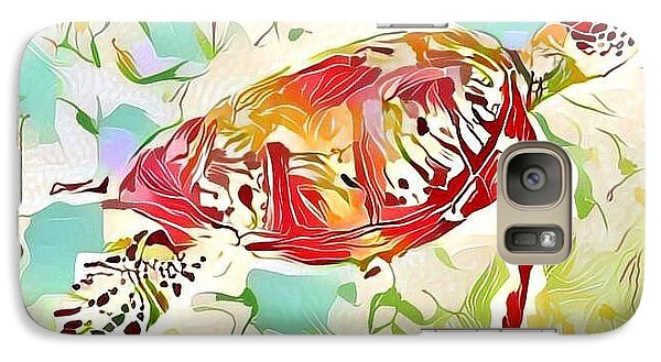 Galaxy Case featuring the digital art Ruby The Turtle by Erika Swartzkopf