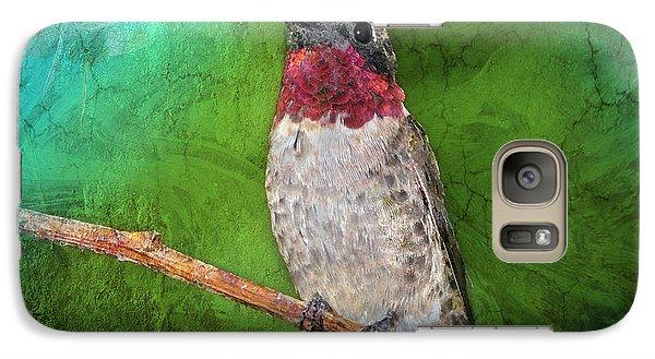 Ruby Throated Hummingbird Galaxy S7 Case by Betty LaRue