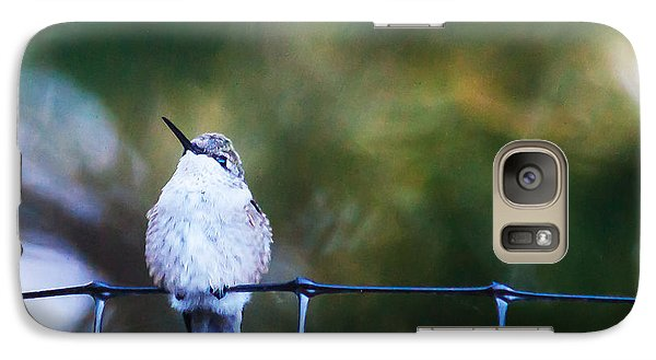 Galaxy Case featuring the photograph Ruby-throated Hummingbird  Staying Warm by Edward Peterson