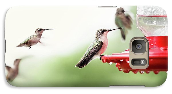 Galaxy Case featuring the photograph Ruby-throated Hummingbirds by Stephanie Frey