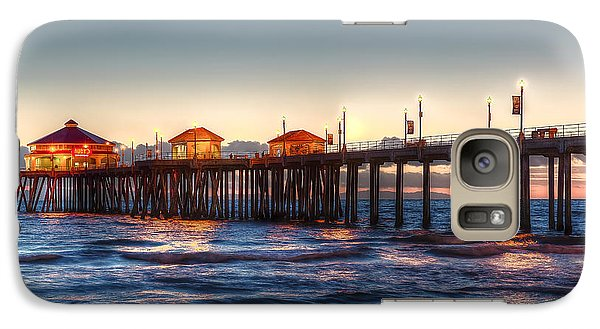 Galaxy Case featuring the photograph Ruby's Surf City Diner At Twilight - Huntington Beach Pier by Jim Carrell