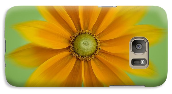 Galaxy Case featuring the photograph Rudbeckia Blossom Irish Eyes - Square by Patti Deters