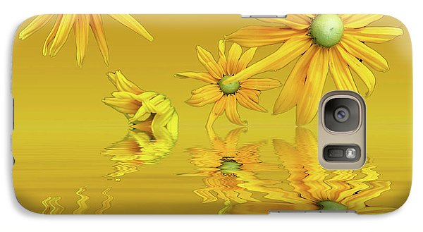 Galaxy Case featuring the photograph Rudbekia Yellow Flowers by David French