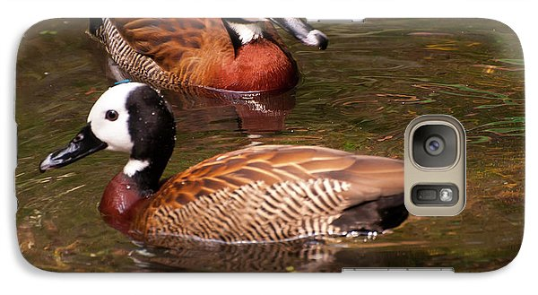 Galaxy Case featuring the digital art White-faced Whistling Duck by Chris Flees