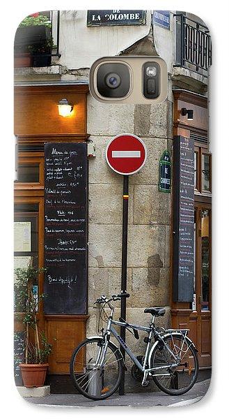 Galaxy Case featuring the photograph Rue De La Colombe - Paris Photograph by Melanie Alexandra Price