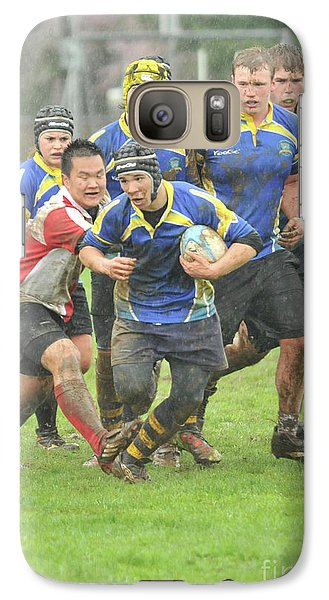 Galaxy Case featuring the photograph Rugby In The Mud by Rod Wiens