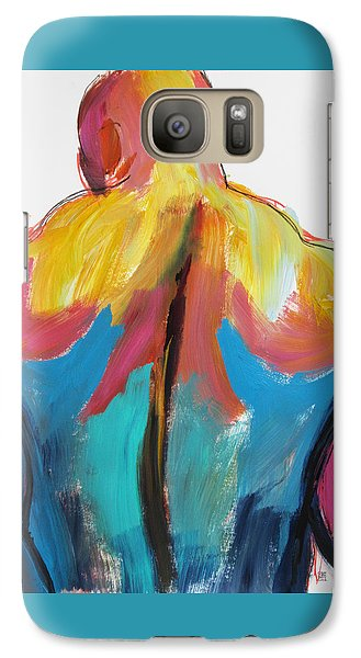 Galaxy Case featuring the painting Rugger Man Broad Back by Shungaboy X