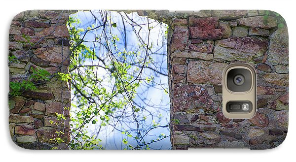 Galaxy Case featuring the photograph Ruin Of A Window - Bridgetown Millhouse  Bucks County Pa by Bill Cannon
