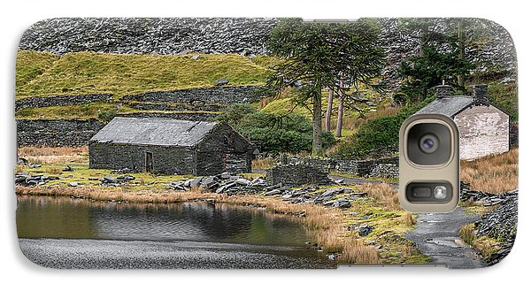 Galaxy Case featuring the photograph Ruins At Cwmorthin by Adrian Evans