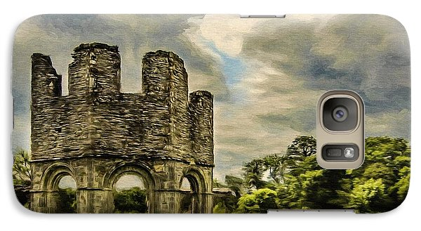 Galaxy Case featuring the painting Ruins Of Mellifont Abbey by Jeff Kolker