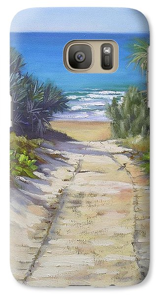 Galaxy Case featuring the painting Rules Beach Queensland Australia by Chris Hobel