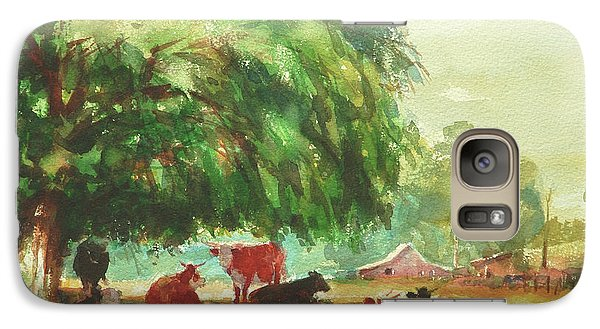 Pasture Galaxy S7 Case - Rumination by Steve Henderson