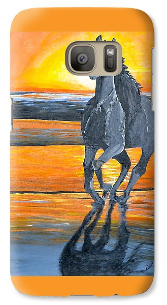Galaxy Case featuring the painting Run Free by Donna Blossom