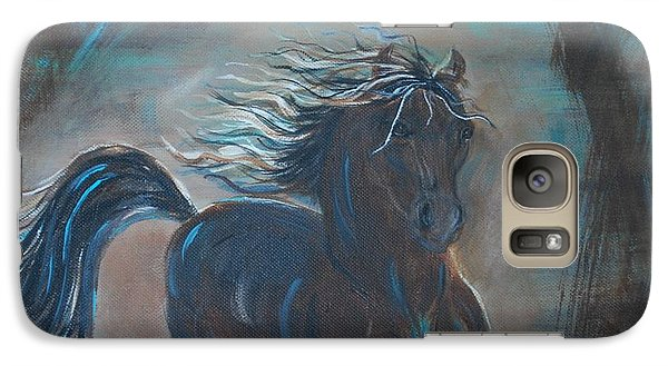 Galaxy Case featuring the painting Run Horse Run by Leslie Allen