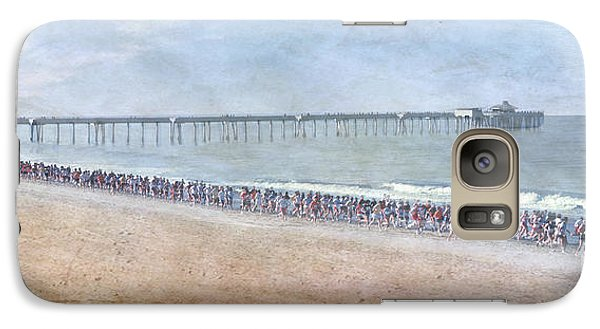 Galaxy Case featuring the photograph Runners On The Beach Panorama by David Zanzinger