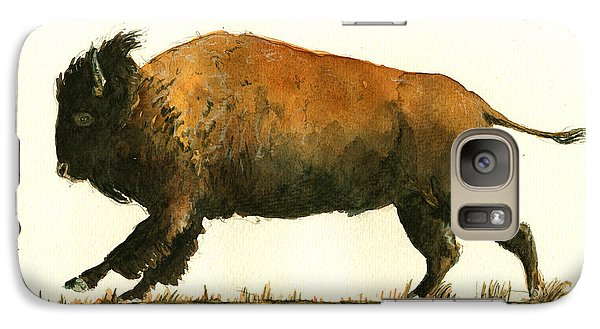 Buffalo Galaxy S7 Case - Running American Buffalo by Juan  Bosco