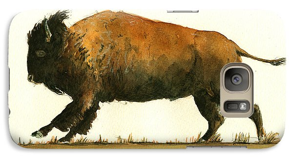Running American Buffalo Galaxy S7 Case by Juan  Bosco