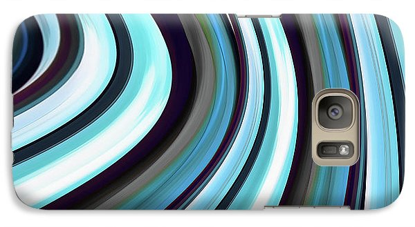 Galaxy Case featuring the digital art Running Blue by Wendy J St Christopher