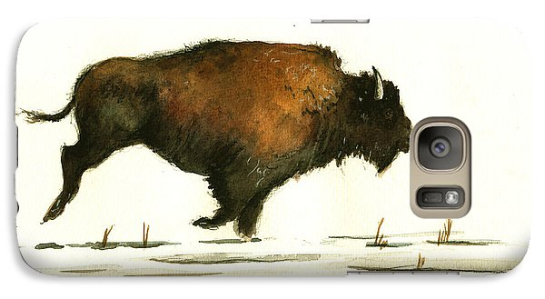 Buffalo Galaxy S7 Case - Running Buffalo by Juan  Bosco
