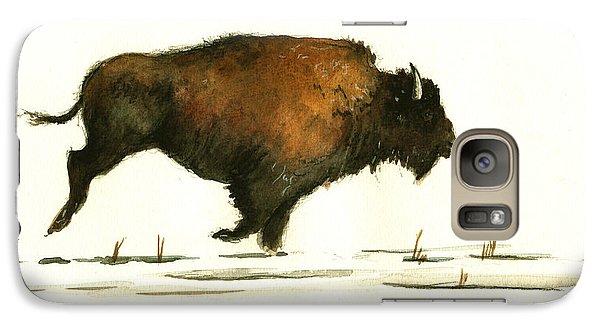 Running Buffalo Galaxy Case by Juan  Bosco