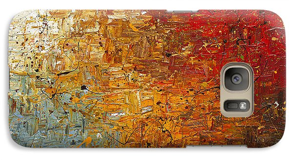 Galaxy Case featuring the painting Running Free - Abstract Art by Carmen Guedez