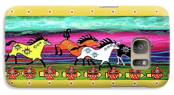 Galaxy Case featuring the painting Running Free by Debbie Chamberlin