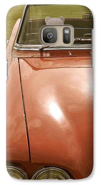 Galaxy Case featuring the photograph Rupert Bear Out For A Drive by John Colley