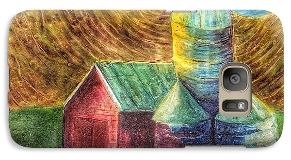 Galaxy Case featuring the painting Rural Farm by Jame Hayes