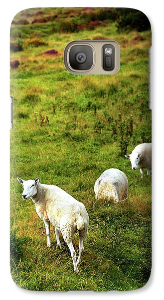 Galaxy Case featuring the photograph Rural Idyll. Wicklow. Ireland by Jenny Rainbow