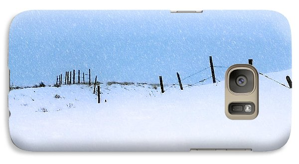 Galaxy Case featuring the photograph Rural Prairie Winter Landscape by Blair Wainman