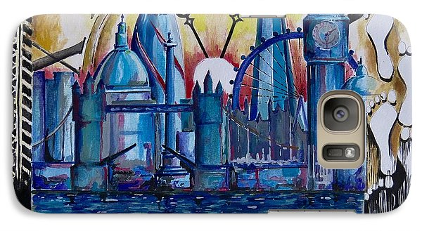 Galaxy Case featuring the painting Rush Hour In London by Geni Gorani