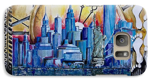 Galaxy Case featuring the painting Rush Hour In New York  by Geni Gorani