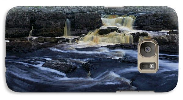 Galaxy Case featuring the photograph Rushing By The Falls by Heidi Hermes