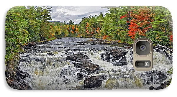 Galaxy Case featuring the photograph Rushing Towards Fall by Glenn Gordon