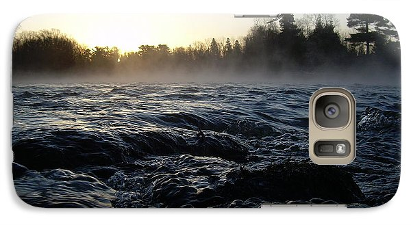 Galaxy Case featuring the photograph Rushing Water In Missississippi River by Kent Lorentzen