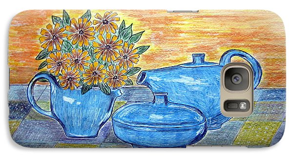 Galaxy Case featuring the painting Russel Wright China  by Kathy Marrs Chandler