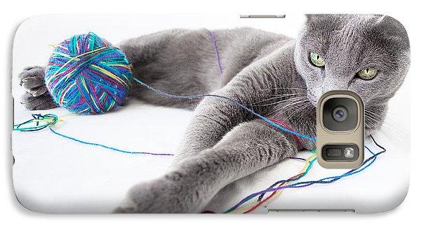 Cat Galaxy S7 Case - Russian Blue by Nailia Schwarz