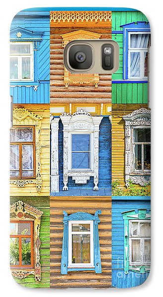 Galaxy Case featuring the photograph Russian Windows by Delphimages Photo Creations