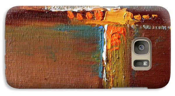 Rust Abstract Painting Galaxy S7 Case by Nancy Merkle