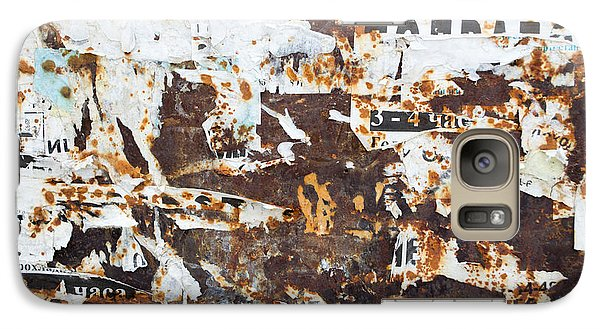 Galaxy Case featuring the photograph Rust And Torn Paper Posters by John Williams