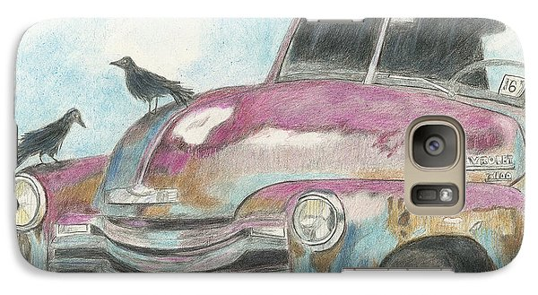 Galaxy Case featuring the drawing Rust In Peace by Arlene Crafton