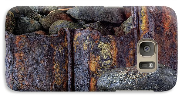 Galaxy Case featuring the photograph Rusted Stones 3 by Steve Siri