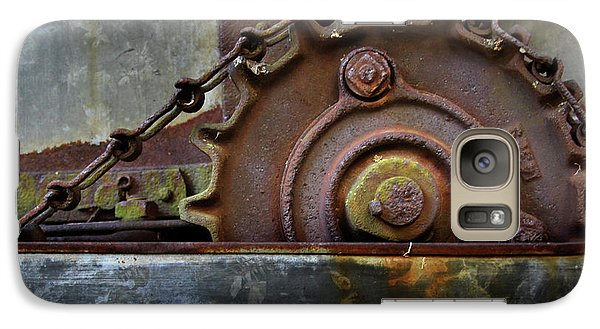 Galaxy Case featuring the photograph Rustic Gear And Chain by David and Carol Kelly