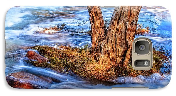 Galaxy Case featuring the photograph Rustic Island, Noble Falls by Dave Catley