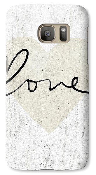 Galaxy Case featuring the mixed media Rustic Love Heart- Art By Linda Woods by Linda Woods
