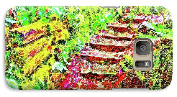 Galaxy Case featuring the digital art Rustic Step Path Through The Woods - Tamalpais California by Joel Bruce Wallach