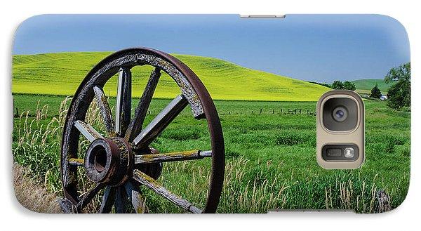 Rustic Wagon Wheel In The Palouse Galaxy S7 Case