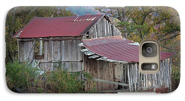 Galaxy Case featuring the photograph Rustic Weathered Hillside Barn by John Stephens