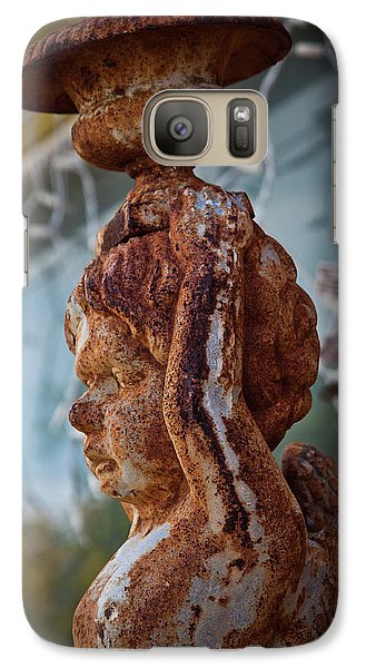 Galaxy Case featuring the photograph Rusty Angel by Linda Unger